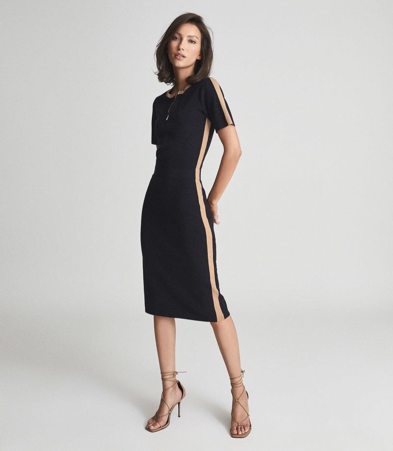Reiss Rosie Knitted Bodycon Midi Dress $325