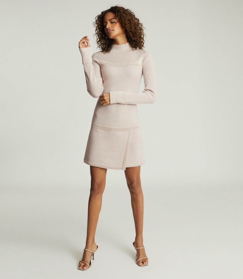 Reiss Zoe Knitted Mini Dress $370