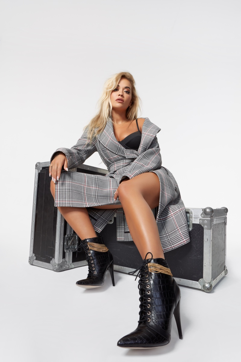 Rita Ora designs Keep Me High boot for ShoeDazzle.