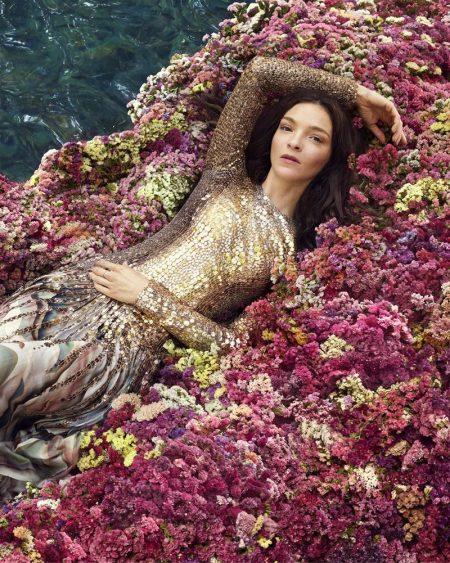Mariacarla Boscono stars in Roberto Cavalli Paradise Found fragrance campaign.