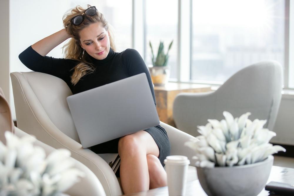 Stylish Woman on Laptop