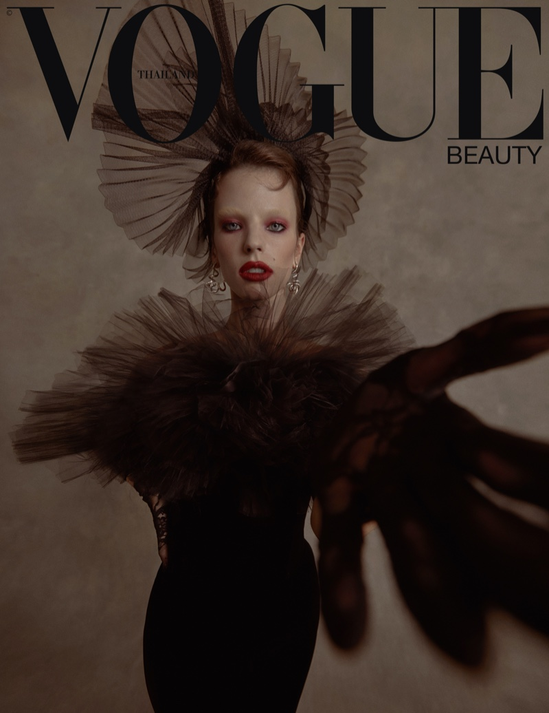 Sydney Sylvester Embraces Elegant Ensembles for Vogue Thailand