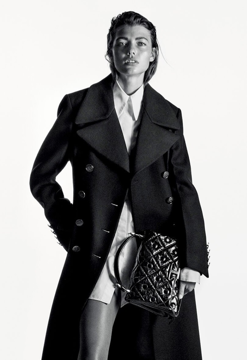 Mathilde Henning stars in Tod's fall-winter 2020 campaign.