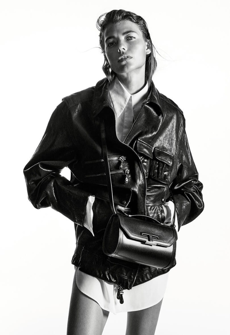 Model Mathilde Henning fronts Tod's fall-winter 2020 campaign.