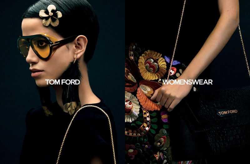 Anna Herrera stars in Tom Ford fall-winter 2020 campaign.
