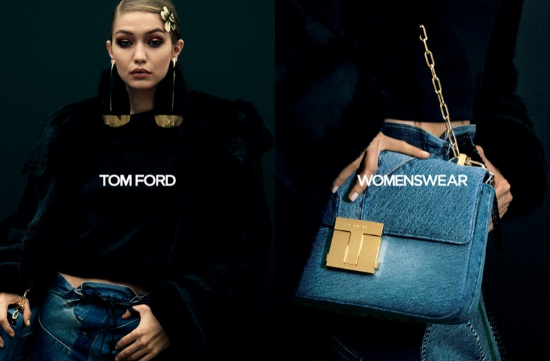 Gigi Hadid fronts Tom Ford fall-winter 2020 campaign.