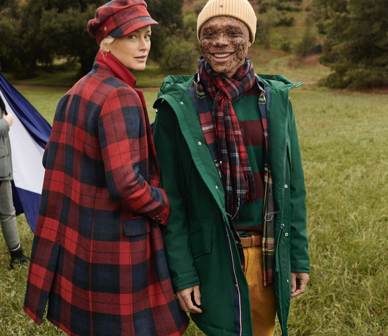 Carolyn Murphy and Ralph Souffrant front Tommy Hilfiger fall-winter 2020 campaign.