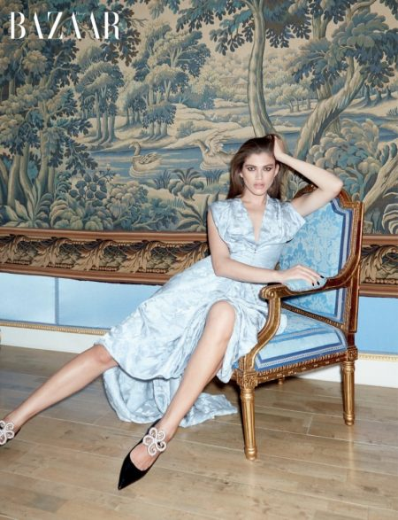 Valentina Sampaio Models Elegant Looks for Harper's Bazaar Singapore