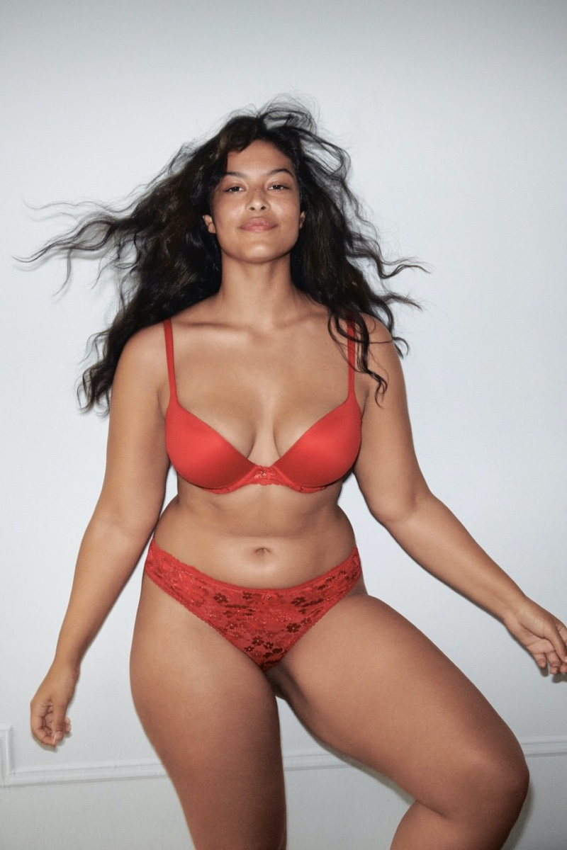 Devyn Garcia looks red-hot in Victoria's Secret Holiday 2020 campaign.