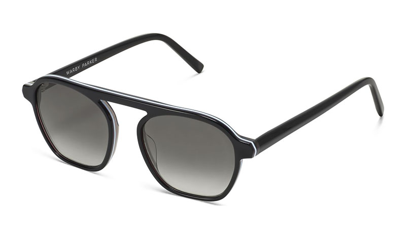 Warby Parker Dorian Sunglasses in Ebony Fog Eclipse $95