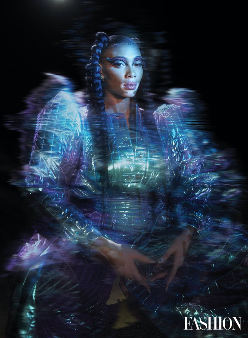 Winnie Harlow Wears Futuristic Looks for FASHION Magazine