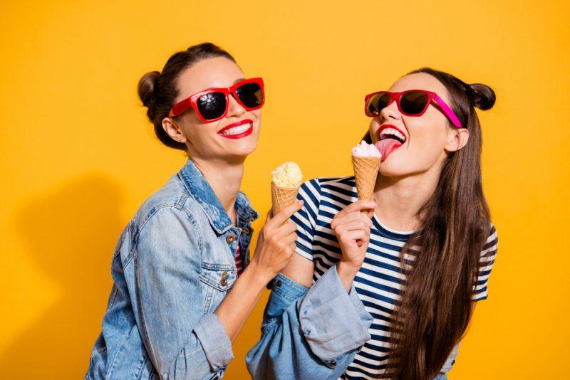 Women Eating Gelato