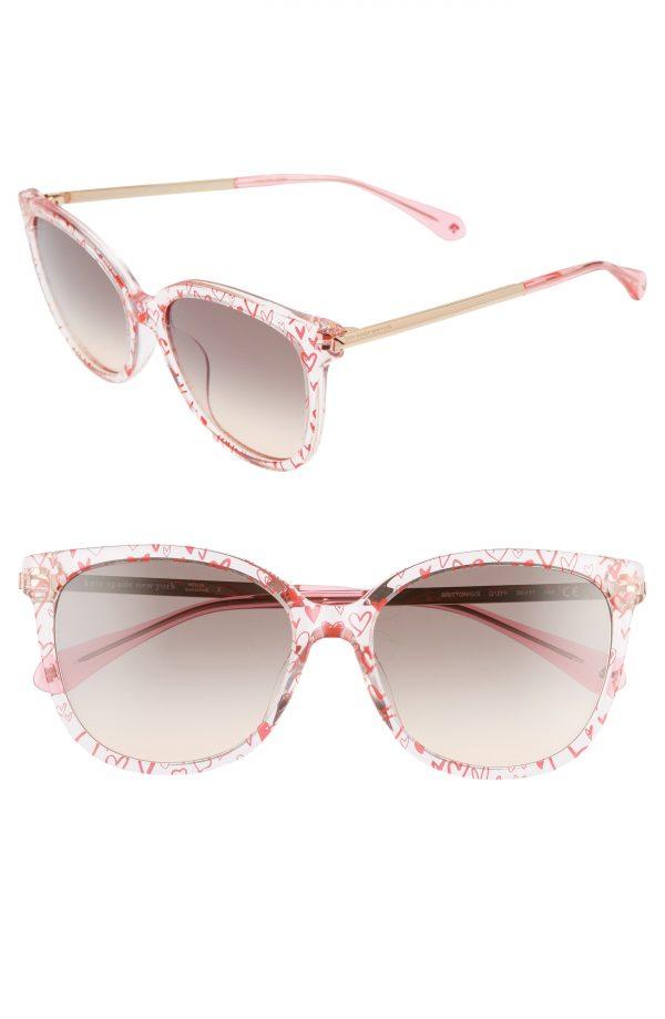 Women's Kate Spade New York Britton 55mm Cat Eye Sunglasses - Pink/ Grey Fuschia