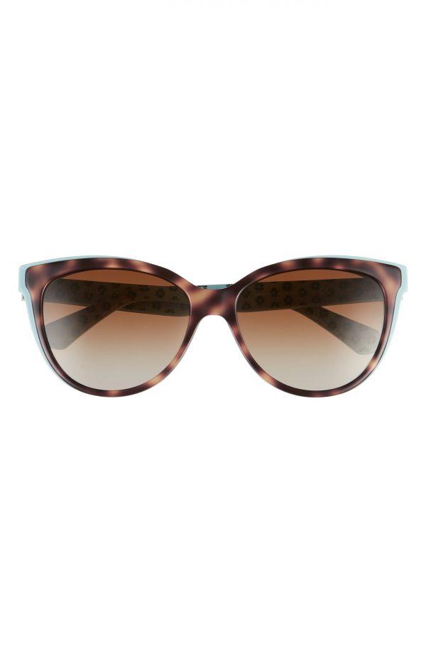 Women's Kate Spade New York Daeshas 56mm Polarized Cat Eye Sunglasses - Havana/ Green/ Brown