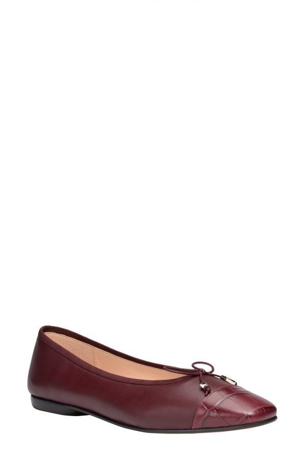 Women's Kate Spade New York Pavlova Flat, Size 5 B - Burgundy
