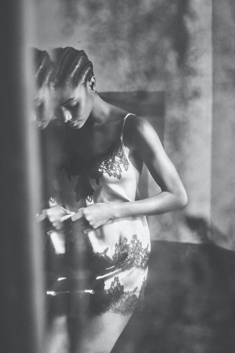 Zara Silk Camisole and Silk Tap Shorts.