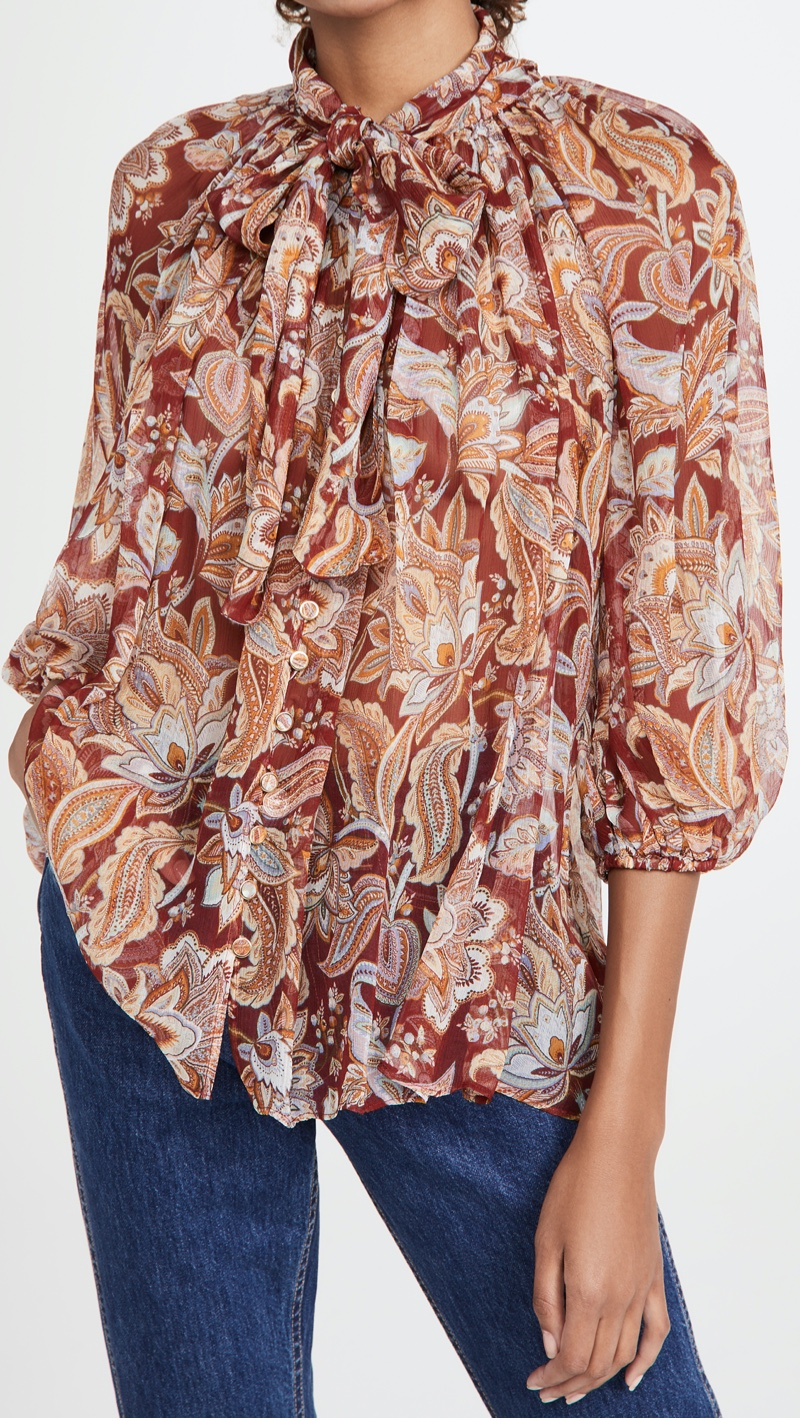 Zimmermann Charm Fluted Blouse $480