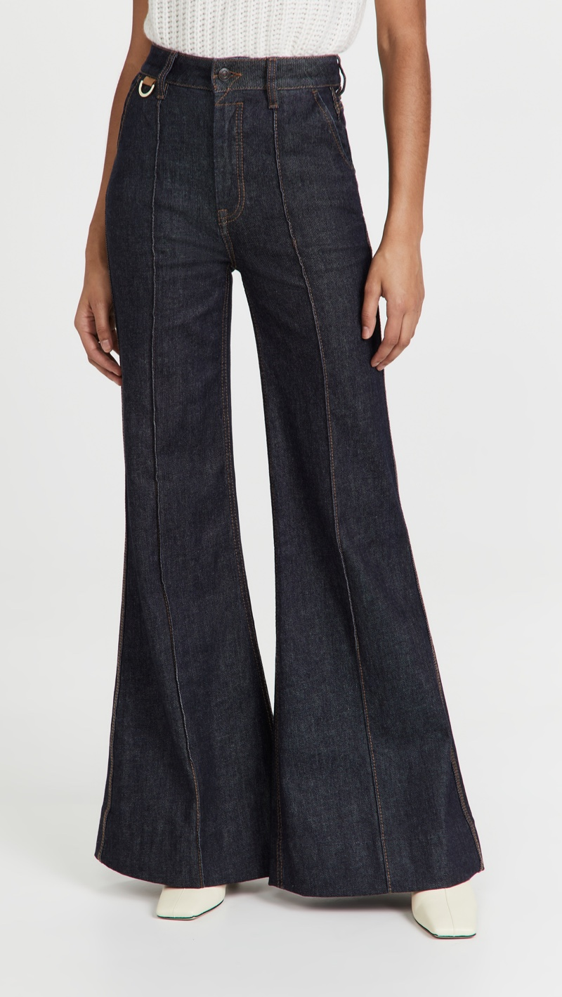 Zimmermann Concert Denim Super Flare Jeans $595