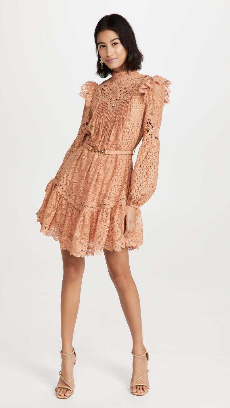 Zimmermann Concert Textured Lace Mini Dress $895