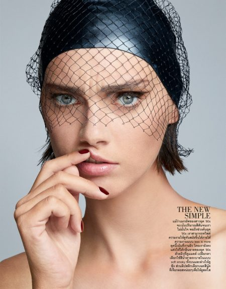 Agnes Sokolowska Embraces Modern Beauty Looks for ELLE Thailand