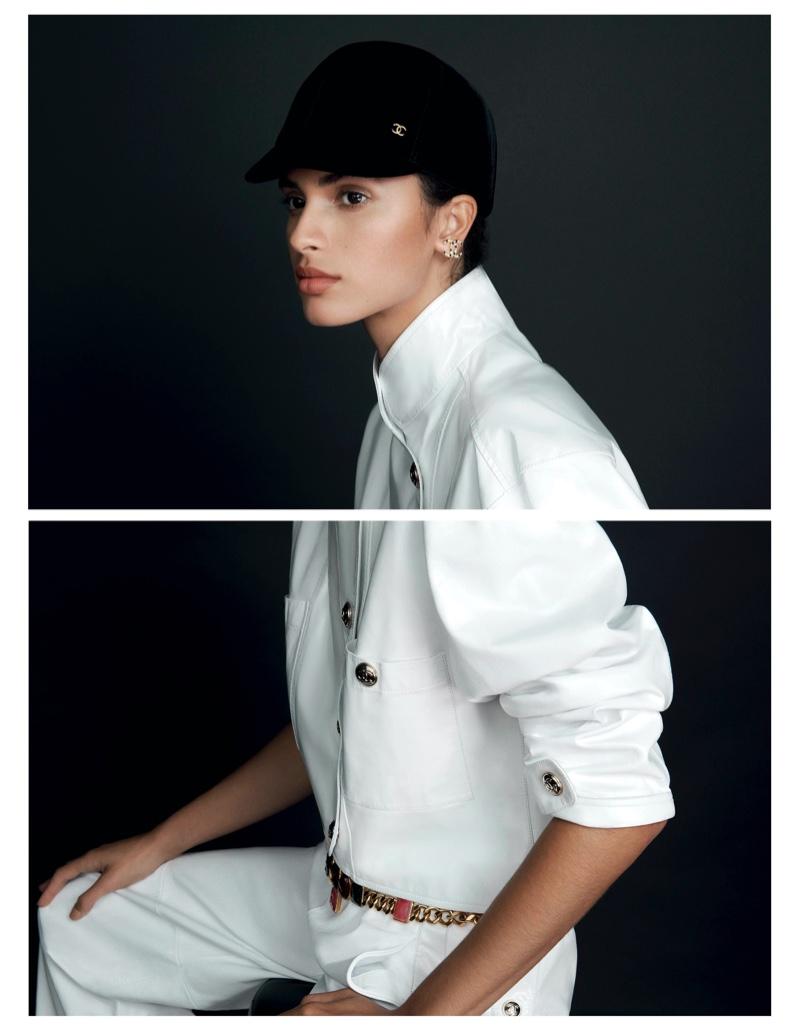 Aira Ferreira Charms in Chanel Beauty for Harper's Bazaar Brazil