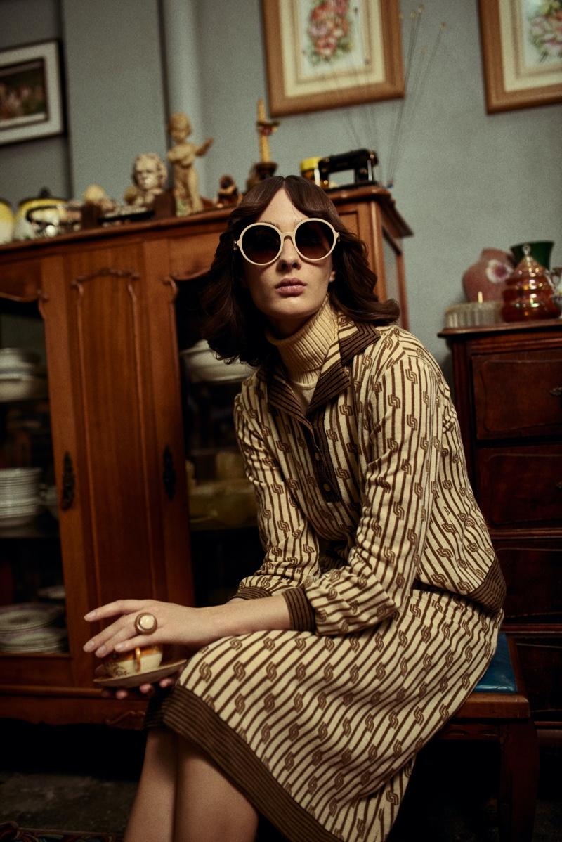 Ana Ostroski Channels Seventies Style for L'Officiel Brazil