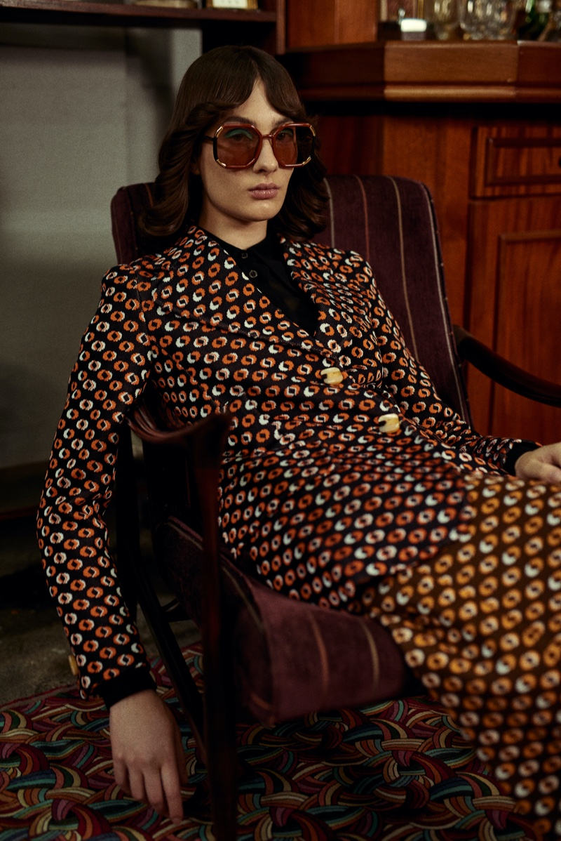 Ana Ostroski Channels Seventies Style for L'Officiel Brazil