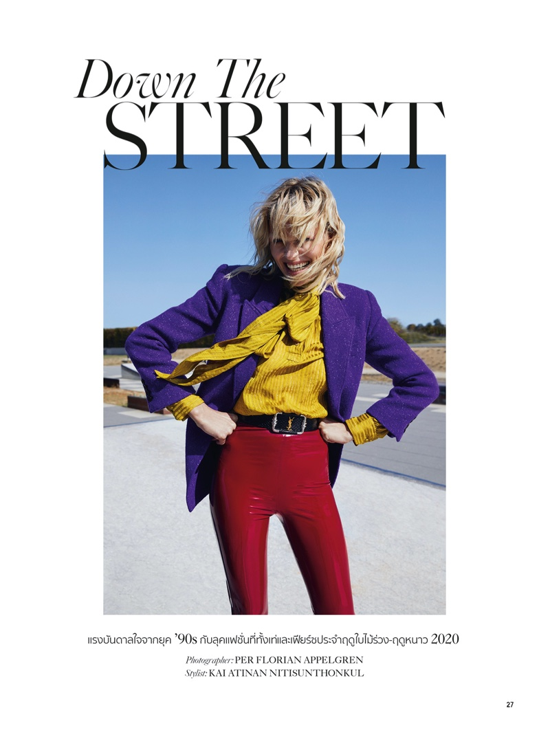 Ann Kuen Poses in Rock & Roll Styles for L'Officiel Thailand