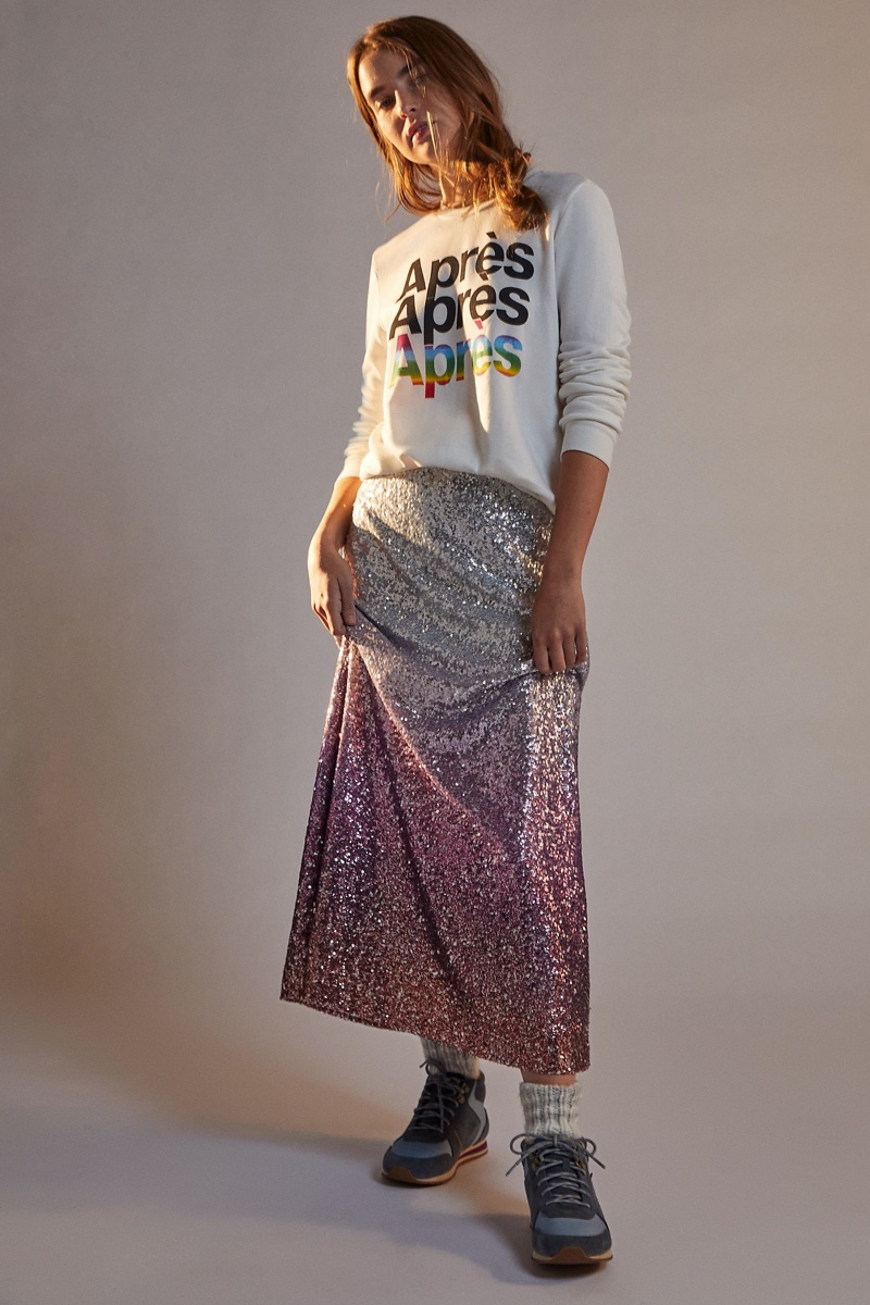Anthropologie Leticia Sequined Maxi Skirt $168