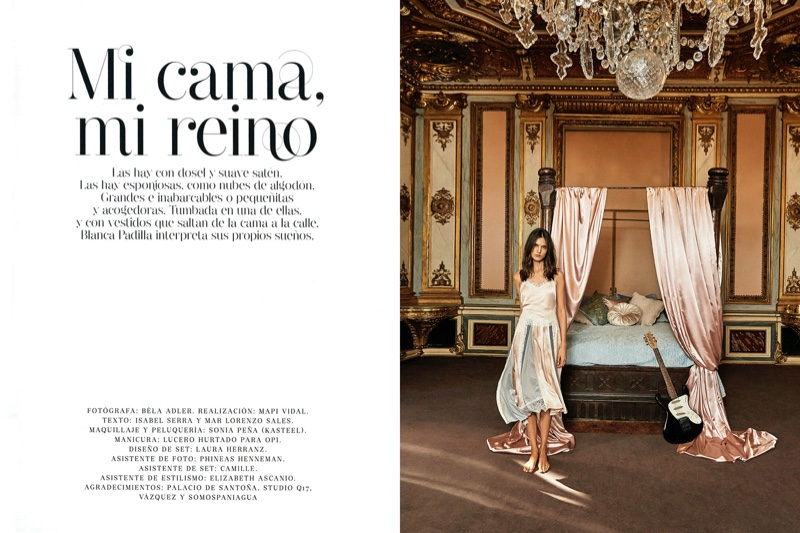 Blanca Padilla Wears the Crown for Glamour Spain