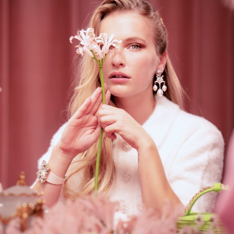 Camille Razat is the face of Roger Vivier's spring 2021 jewelry campaign.