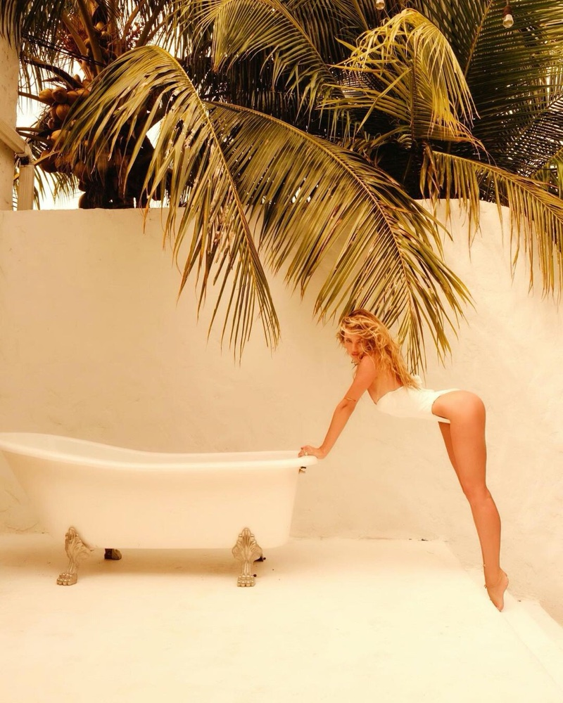 Candice Swanepoel fronts Tropic of C resort 2021 campaign.