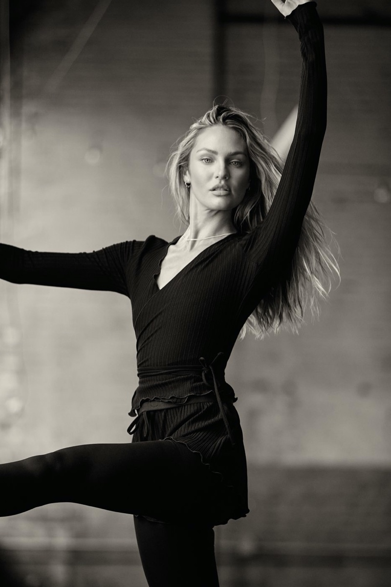 Candice Swanepoel shows off her moves in Tropic of C Movement campaign.