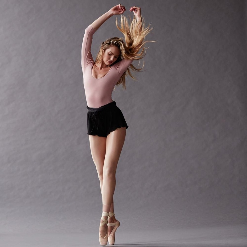 Showing off her ballet form, Candice Swanepoel fronts Tropic of C Movement campaign.