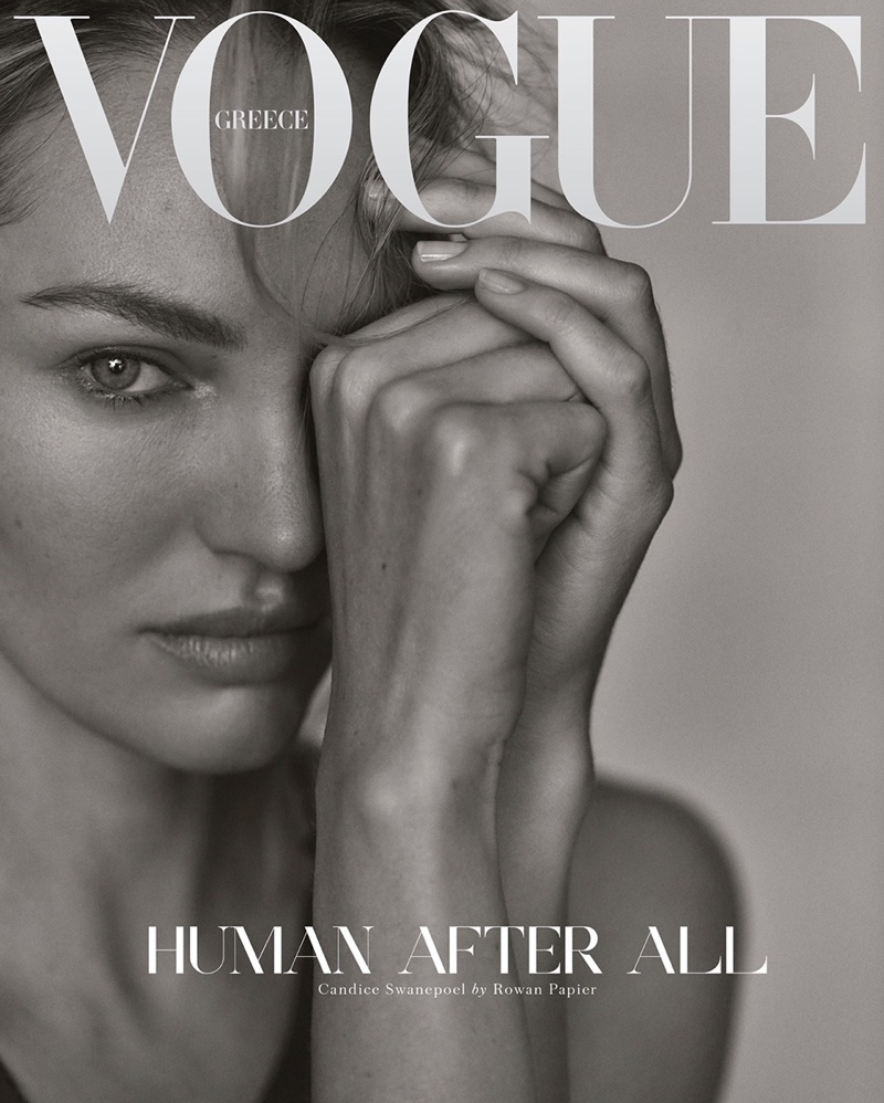 Candice Swanepoel on Vogue Greece December 2020 Cover.