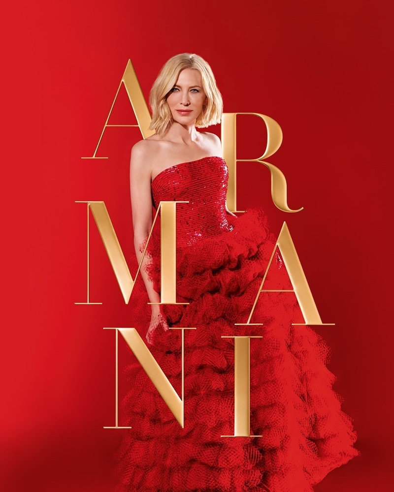 Cate Blanchett Stuns in Red for Armani 'Si' Holiday Fragrance Ad