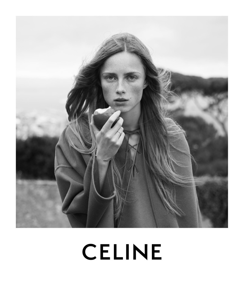 Rianne van Rompaey is the face of Celine's resort 2021 campaign.