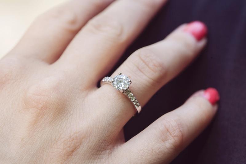 Closeup Classic Engagement Ring