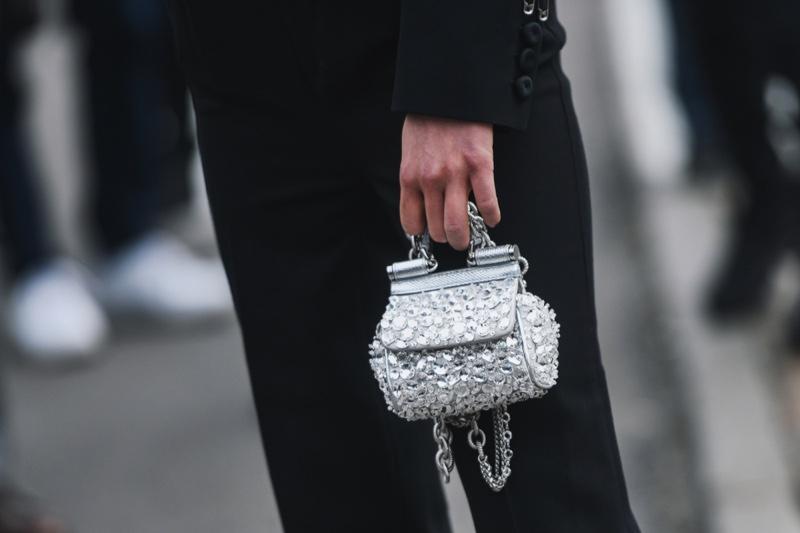 Closeup Tiny Mini Bag Silver Street Style