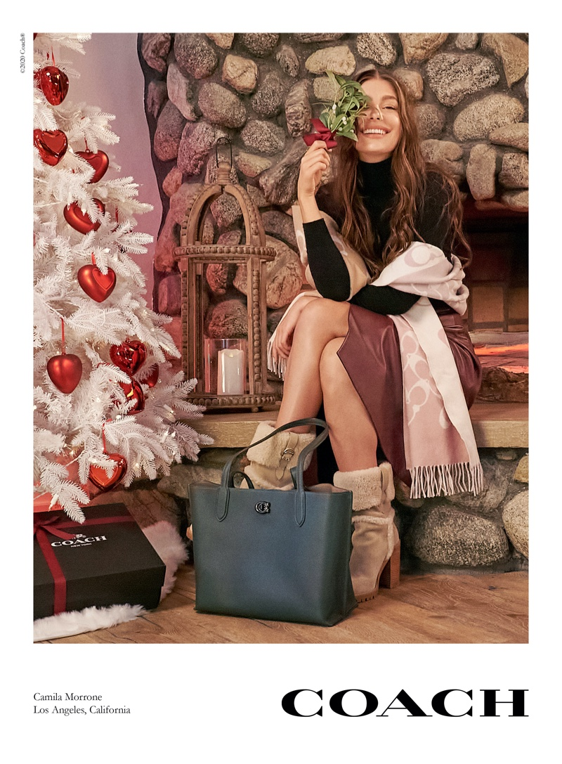 Camila Morrone fronts Coach Holiday 2020 campaign.