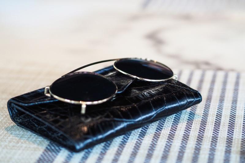 Crocodile Wallet Sunglasses Women's