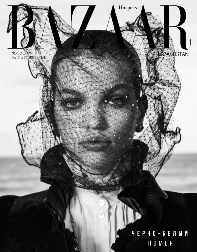 Daphne Groeneveld Models Sophisticated Looks for Harper's Bazaar Kazakhstan