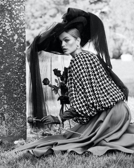 Daphne Groeneveld Models Sophisticated Looks for Harper's Bazaar Kazakhstan