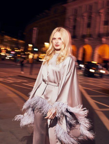 Emma Barley Wears Glam Nighttime Looks for Grazia Pakistan