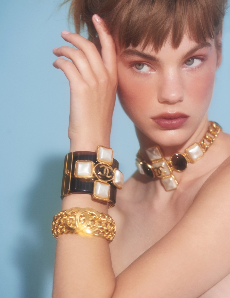 Estella Boersma Models Chanel Beauty for InStyle Spain