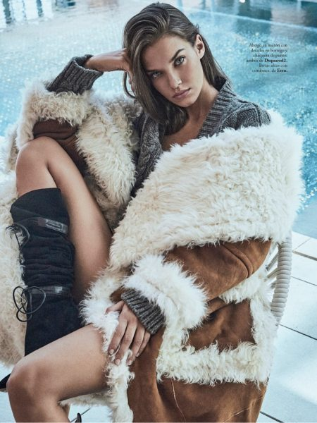 Gara Arias Poses in Layered Fashions for ELLE Spain