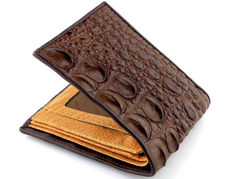 Genuine Crocodile Wallet Brown