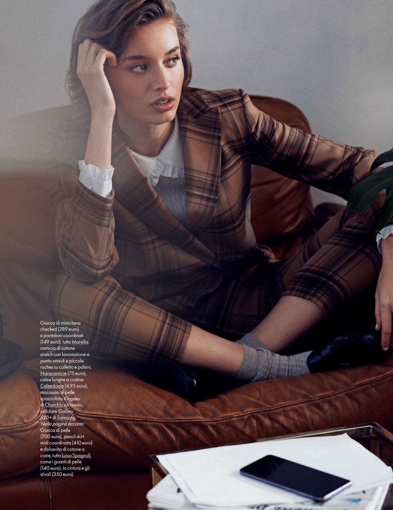Giulia Maenza Embraces Office-Ready Looks for ELLE Italy