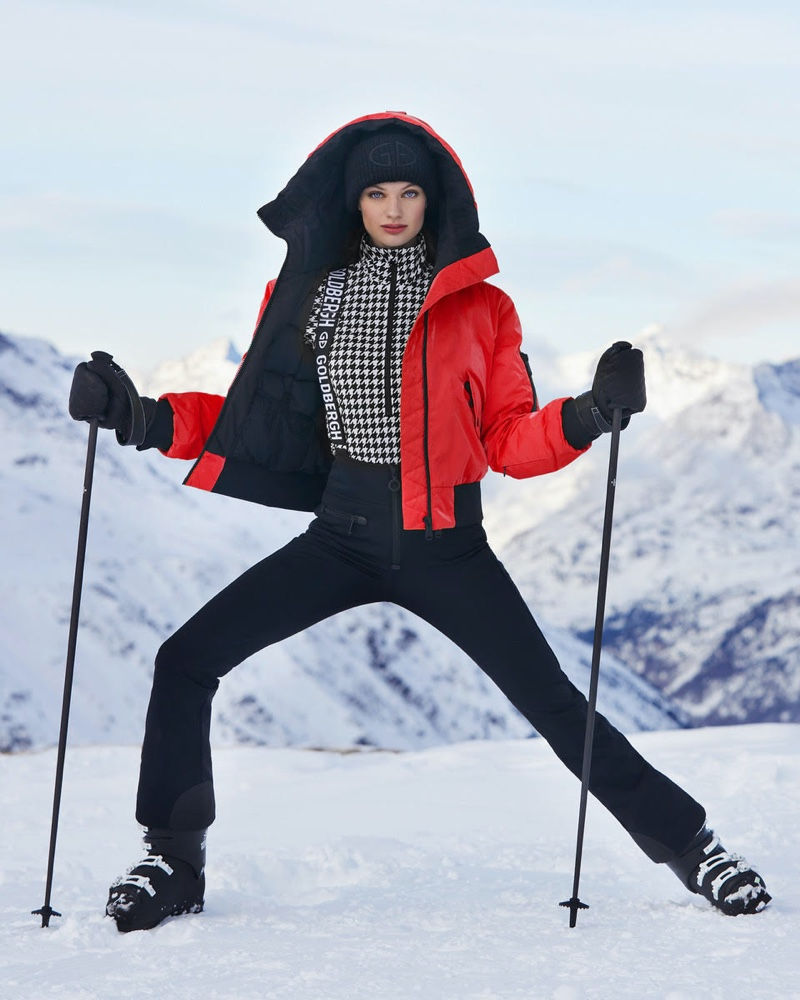Svea & Milan Hit the Slopes for Goldbergh Luxury Sports Winter Campaign