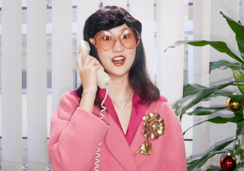 Li Shirui stars in Gucci Holiday 2020 campaign.